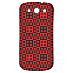 Abstract Background Red Black Samsung Galaxy S3 S Iii Classic Hardshell Back Case