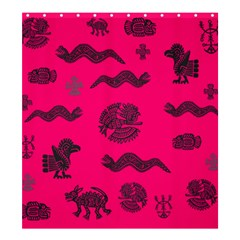 Aztecs Pattern Shower Curtain 66  X 72  (large)  by ValentinaDesign