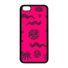 Aztecs Pattern Apple Iphone 5c Seamless Case (black) by ValentinaDesign