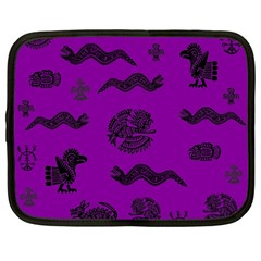 Aztecs Pattern Netbook Case (large) by ValentinaDesign