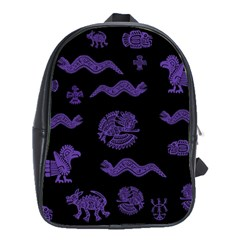 Aztecs Pattern School Bags(large)  by ValentinaDesign