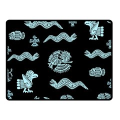 Aztecs Pattern Fleece Blanket (small) by ValentinaDesign