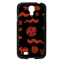 Aztecs Pattern Samsung Galaxy S4 I9500/ I9505 Case (black) by ValentinaDesign