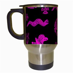 Aztecs Pattern Travel Mugs (white) by ValentinaDesign
