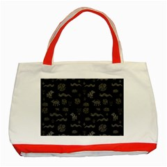 Aztecs Pattern Classic Tote Bag (red) by ValentinaDesign