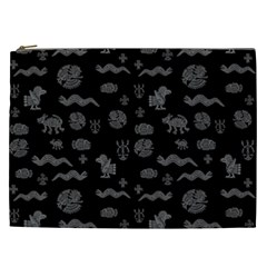 Aztecs Pattern Cosmetic Bag (xxl)  by ValentinaDesign
