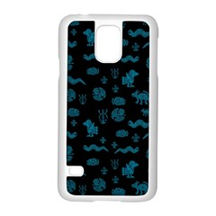 Aztecs Pattern Samsung Galaxy S5 Case (white) by ValentinaDesign