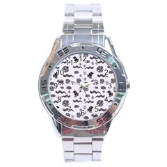 Aztecs Pattern Stainless Steel Analogue Watch by ValentinaDesign