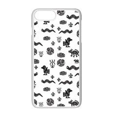 Aztecs Pattern Apple Iphone 7 Plus White Seamless Case