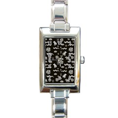 Aztecs Pattern Rectangle Italian Charm Watch by ValentinaDesign