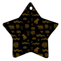 Aztecs Pattern Star Ornament (two Sides) by ValentinaDesign