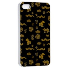 Aztecs Pattern Apple Iphone 4/4s Seamless Case (white) by ValentinaDesign