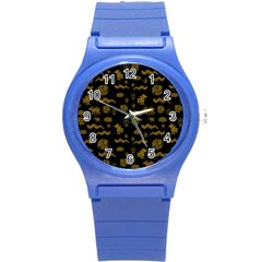 Aztecs Pattern Round Plastic Sport Watch (s) by ValentinaDesign