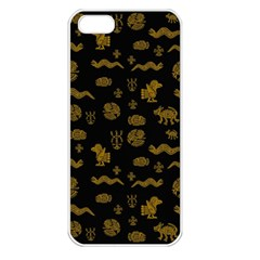 Aztecs Pattern Apple Iphone 5 Seamless Case (white) by ValentinaDesign