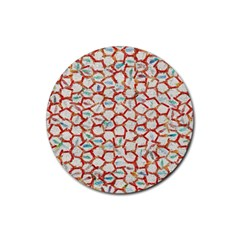 Honeycomb Pattern             Rubber Round Coaster (4 Pack)