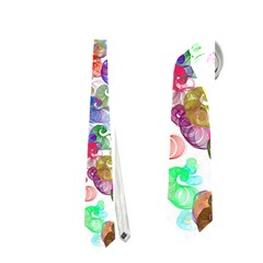 Colorful spirals on a white background             Necktie