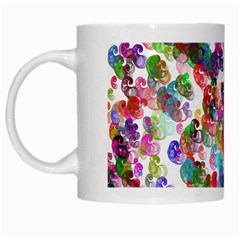 Colorful spirals on a white background             White Mug