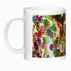 Colorful spirals on a white background             Night Luminous Mug