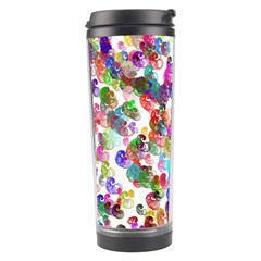 Colorful spirals on a white background             Travel Tumbler