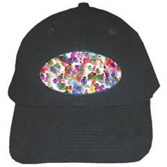 Colorful spirals on a white background             Black Cap