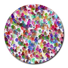 Colorful spirals on a white background             Round Mousepad