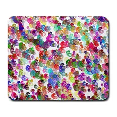 Colorful spirals on a white background             Large Mousepad
