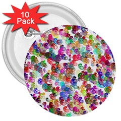 Colorful spirals on a white background             3  Button (10 pack)