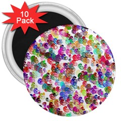 Colorful spirals on a white background             3  Magnet (10 pack)