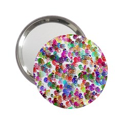Colorful spirals on a white background             2.25  Handbag Mirror