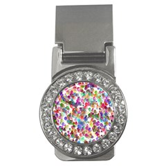Colorful spirals on a white background             Money Clip (CZ)