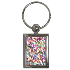 Colorful spirals on a white background             Key Chain (Rectangle)
