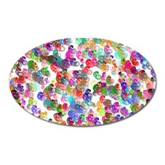 Colorful spirals on a white background             Magnet (Oval)