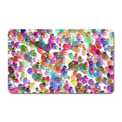 Colorful spirals on a white background             Magnet (Rectangular)