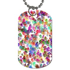 Colorful spirals on a white background             Dog Tag (One Side)
