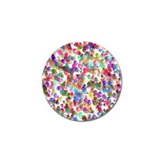 Colorful spirals on a white background             Golf Ball Marker