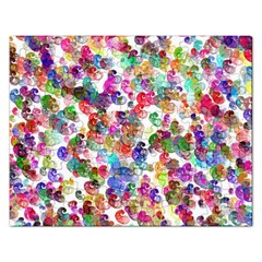 Colorful spirals on a white background             Jigsaw Puzzle (Rectangular)