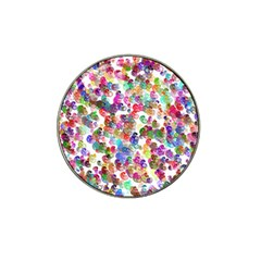Colorful spirals on a white background             Hat Clip Ball Marker
