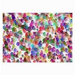 Colorful spirals on a white background             Large Glasses Cloth