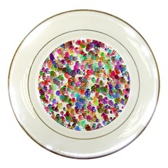 Colorful spirals on a white background             Porcelain Plate
