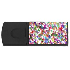 Colorful spirals on a white background             USB Flash Drive Rectangular (4 GB)