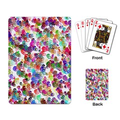 Colorful spirals on a white background             Playing Cards Single Design