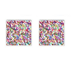 Colorful spirals on a white background             Cufflinks (Square)