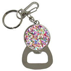 Colorful spirals on a white background             Bottle Opener Key Chain