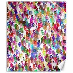 Colorful spirals on a white background             Canvas 20  x 24