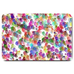 Colorful spirals on a white background             Large Doormat