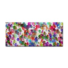 Colorful spirals on a white background             Hand Towel