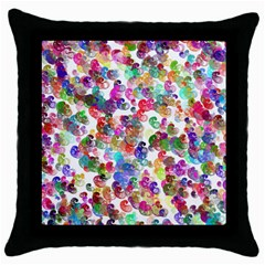 Colorful spirals on a white background             Throw Pillow Case (Black)