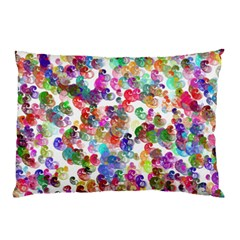 Colorful spirals on a white background             Pillow Case