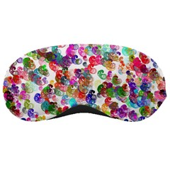 Colorful spirals on a white background             Sleeping Mask