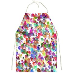 Colorful spirals on a white background             Full Print Apron